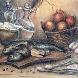 """Рыжикова Мария, """"Декоративный натюрморт """"Винный погребок"""", раб. №2, бум.,"""