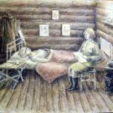 """Крючкова Елизавета, """"Четвертая высота"""",раб. № 1, бум, акв., кар."""