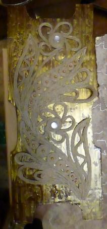 фон фасада пакетницы - акрил с эффектом кракелюров