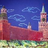 """Ширкунова Евгения, """"Московский Кремль"""", раб. №1, коллаж"""